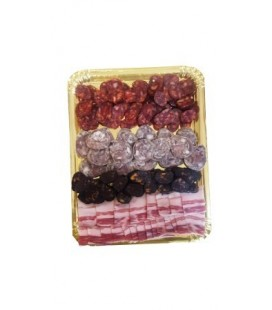 tray of Iberian sausage assortment.