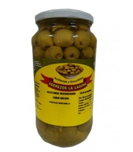 jar of anchovy flavoured pitted olives.