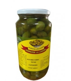 Jar of Chupadedos Green Olives